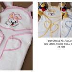 Accappatoio bambino neonato in spugna ricamato personalizzabile