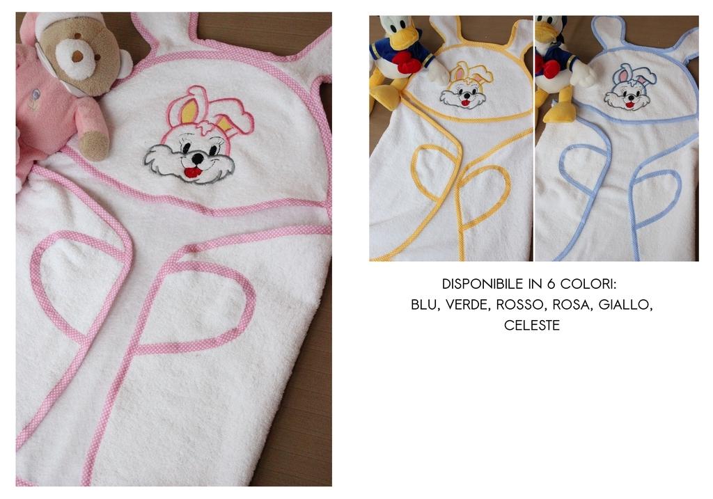 ... baby terry bathrobe embroidered customizable. Accappatoio bambino  neonato in spugna ricamato personalizzabile 925b09482