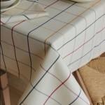 Tovaglia quadri rotonda tinto filo anche su misura cotone