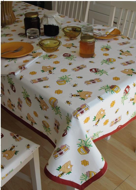 Tovaglia copritavolo stampato coordinati cucina fantasia api - Coordinati cucina country ...
