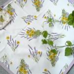 tovaglia copritavolo stampato coordinati cucina fantasia lavanda