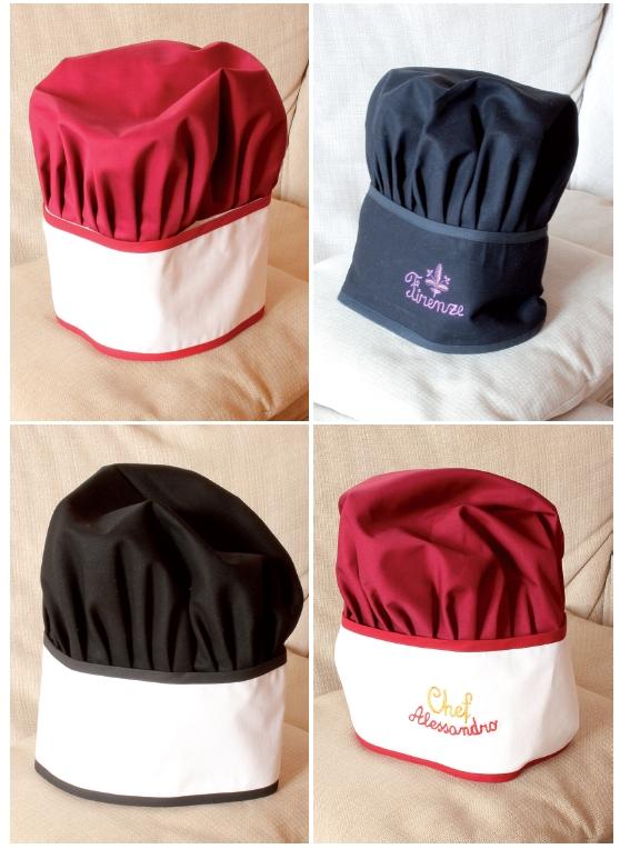Cappello cuoco uomo bambino donna con ricamo personalizzato b26eaa165834