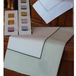 Completo letto lenzuola copripiumino su misura cotone Agnese