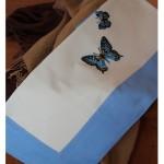 Completo letto lenzuola copripiumino su misura cotone Farfalla