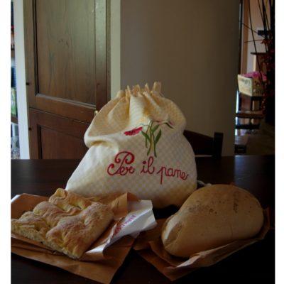 Idee regalo sacco per il pane in cotone ricamo personalizzabile