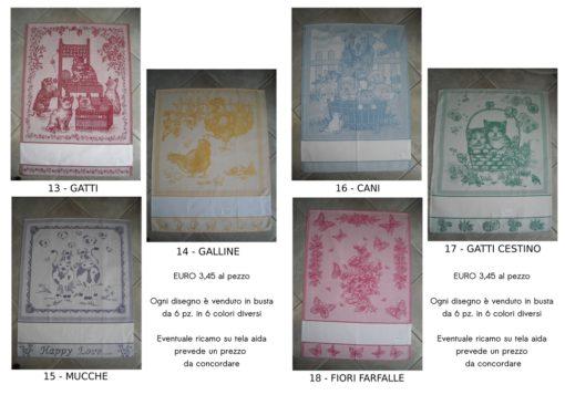 Idee regalo strofinacci in cotone con tela aida personalizzabile