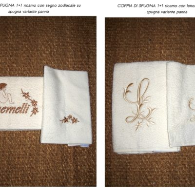 asciugamani bagno viso e ospite spugna con ricamo personalizzato