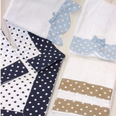 asciugamani bagno viso telo ospite spugna balza stampata