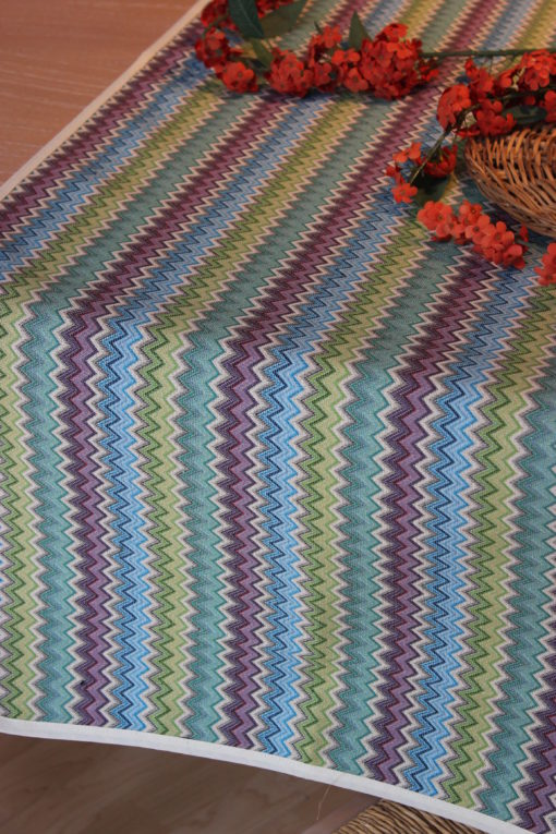 copritavolo tovaglia gobelin su misura tessuto disegno zig zag