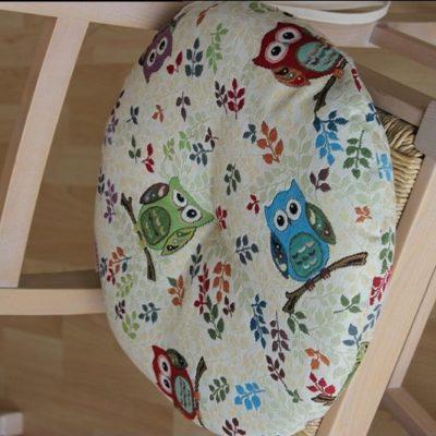 cuscino sedia tondo sfoderabile gobelin anche su misura