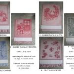 strofinacci idee regalo in jacquard con tela aida personalizzabile