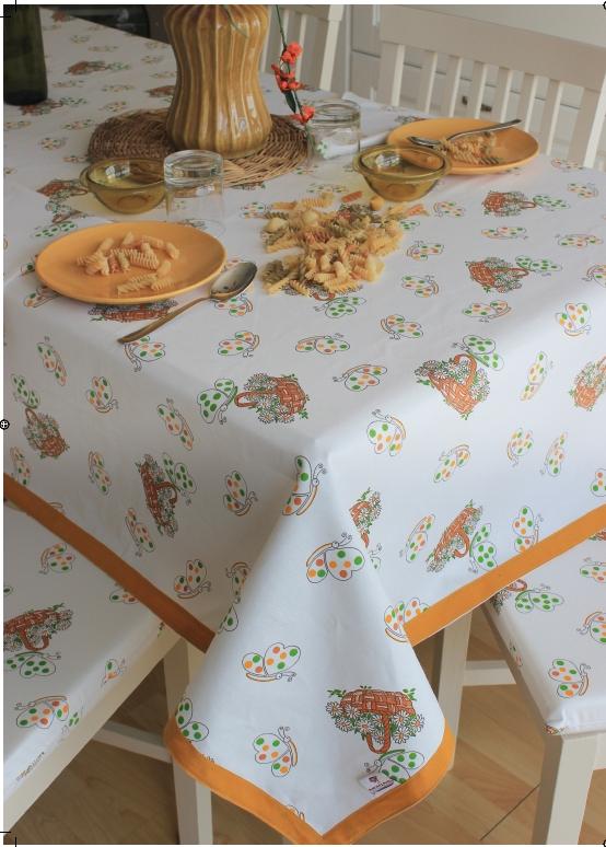 tovaglia copritavolo stampato coordinati cucina fantasia farfalle