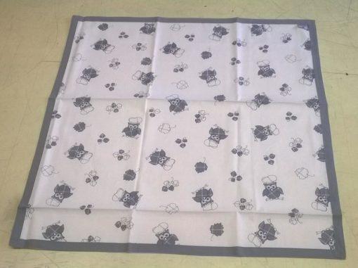 tovaglia copritavolo stampato coordinati cucina gufo grigio