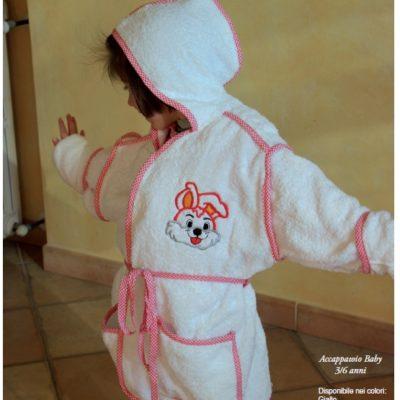 Accappatoio bambino 3 6 anni spugna cotone personalizzabile