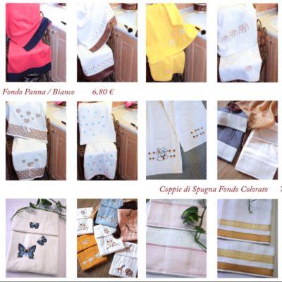 Asciugamani bagno viso e ospite spugna ricamo personalizzato