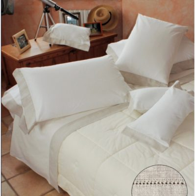 Completo letto lenzuola copripiumino su misura Orlo a giorno GIORNO