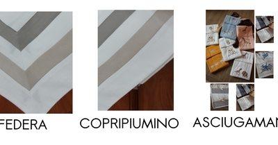 Completo letto lenzuola copripiumino su misura cotone Cristina