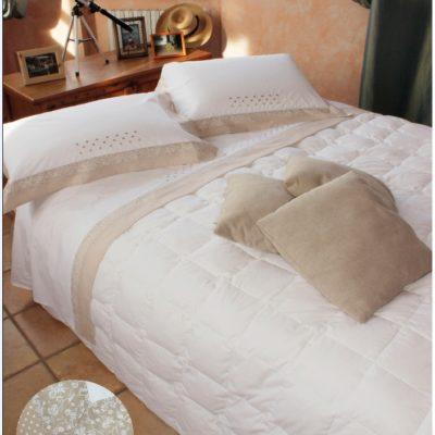 Completo letto lenzuola copripiumino su misura cotone Emy