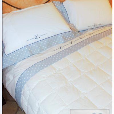 Completo letto lenzuola copripiumino su misura cotone Georgia
