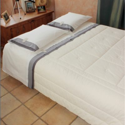 Completo letto lenzuola copripiumino su misura cotone Noa