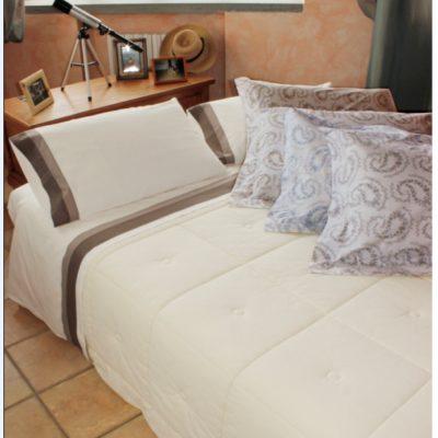 Completo letto lenzuola copripiumino su misura cotone Tropea
