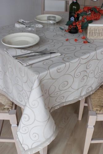 Tovaglia copritavolo fiandra italiana misto lino h cm 300