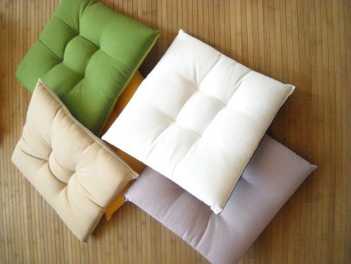 cuscino quadrato e tondo sedia sfoderabile su misura unito