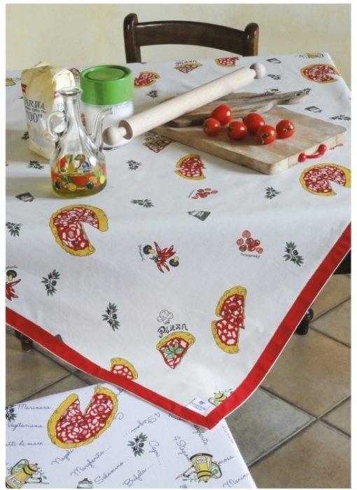 tovaglia copritavolo stampato coordinati cucina fantasia pizza